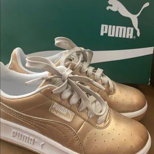 Puma Gold California Metallic Sneakers